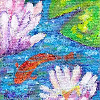 Playful Koi by Peggy Johnson by Peggy Johnson