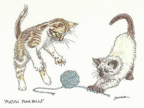 Playful Purrballs by Sue Bonnar