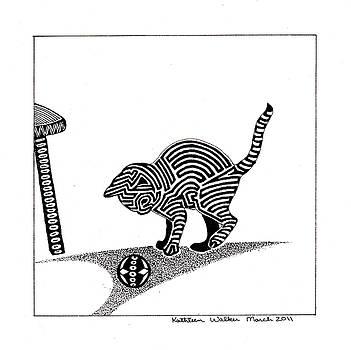 Playfull Kitten by Kathleen Walker