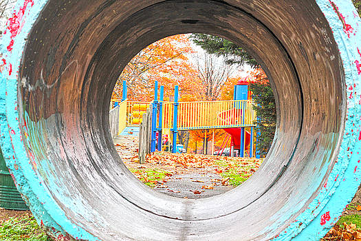 Playground Pipe in Fall by JB Stran
