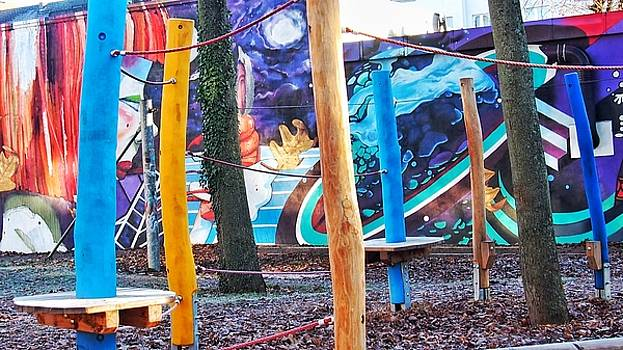 Playground with hq graffiti art by Marco De Mooy