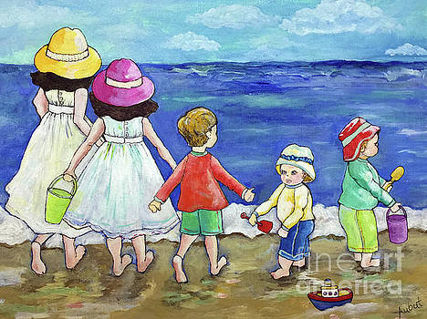 Playing at the Seashore by Rosemary Aubut
