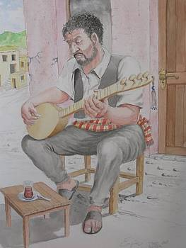 Playing Baglama by Engin Yuksel