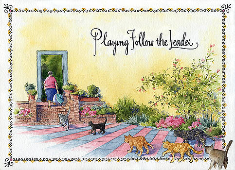 Playing Follow the Leader by Leslie Fehling