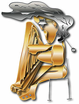 Playing The Harp by Love Art