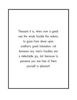 Pleasant it is, when over... by Famous Quotes