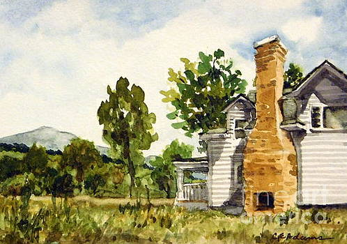 Plein Air Summer - Flying B Ranch 3 by Cheryl Emerson Adams