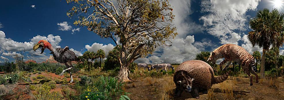 Pliocene - Pleistocene mural 1 by Julius Csotonyi