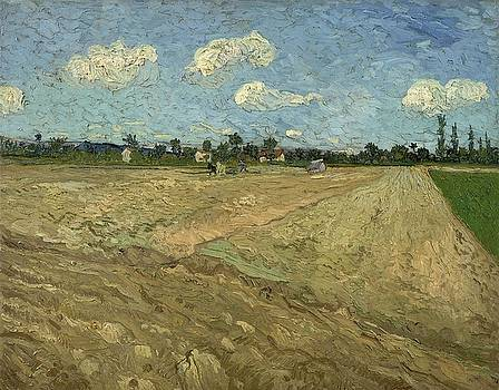 Ploughed Fields The Furrows   at Wheat Fields   Van Gogh series   by Vincent van Gogh by Artistic Panda