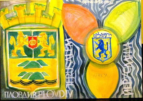 Plovdiv and Jerusalem by Galina Todorova