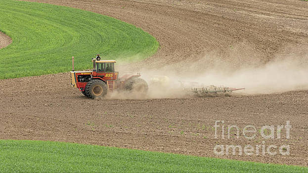 Plowing in the Palouse by Jerry Fornarotto
