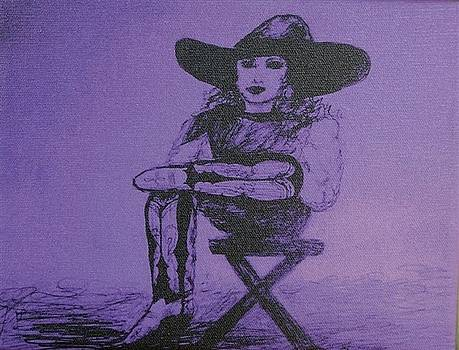 Plum Cowgirl by Susan Gahr