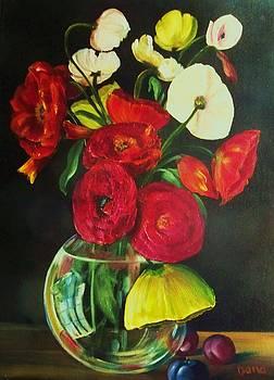 Plum ranunculus by Dana Redfern