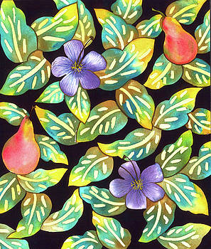 Plumeria Pears by Leslie Marcus