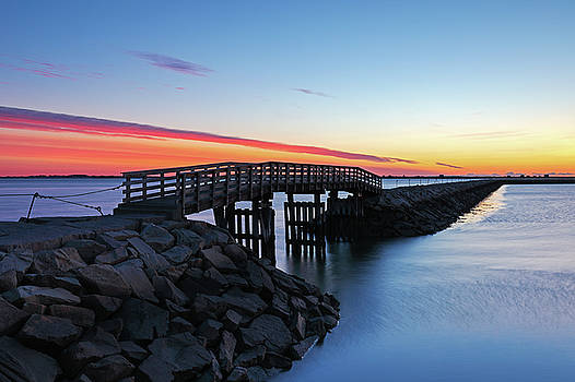 Plymouth Harbor Jetty by Juergen Roth