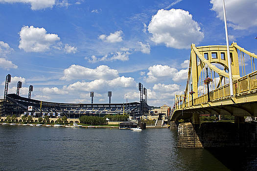 PNC Park and Roberto Clemente Bridge Pittsburgh PA by Kristen Vota