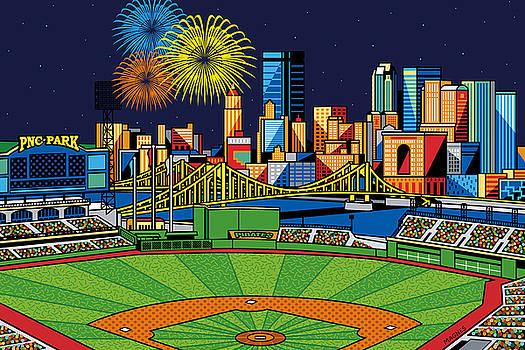 PNC Park fireworks by Ron Magnes