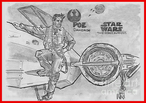Poe Dameron by Chris  DelVecchio