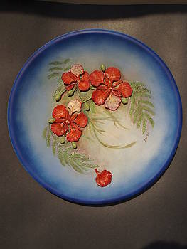 Poinciana Plate by MARI Sanchez