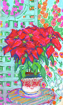 Poinsettias  by Candace Lovely