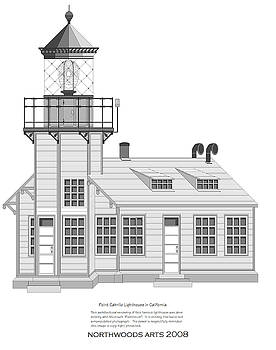 Point Cabrillo Architectural Drawing by Anne Norskog