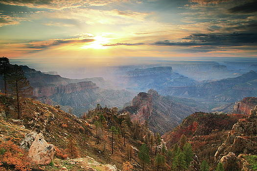 Point Imperial Sunrise, Grand Canyon by Roupen  Baker