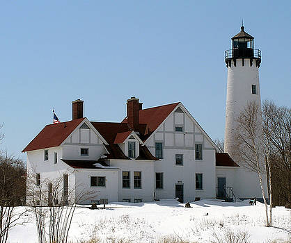Point Iroquois Lighthouse by Scott Heister