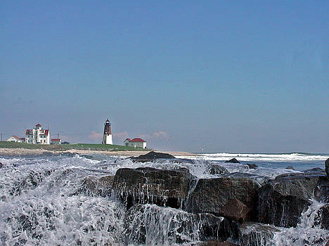 Point Judith Light by Donald Cameron