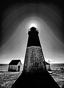Point Judith lighthouse by Bill Jonscher