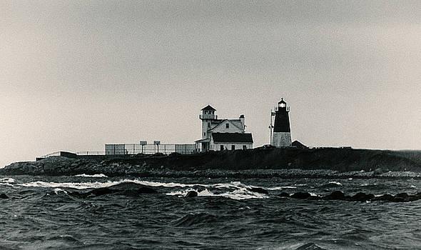 Point Judith Lighthouse Narragansett Rhode Island by Nancy De Flon