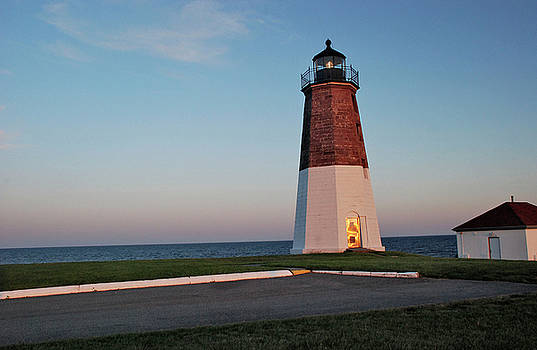 Point Judith Lighthouse Rhode Island by Nancy De Flon
