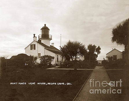 California Views Mr Pat Hathaway Archives - Point Pinos Light House, Pacific Grove, Cal. Circa 1911