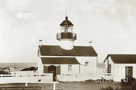 Point Pinos Lighthouse, Pacific Grove, Monterey County California 1899 by California Views Mr Pat Hathaway Archives