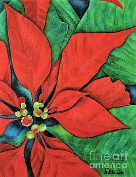 Pointsettias by Sharon Patterson