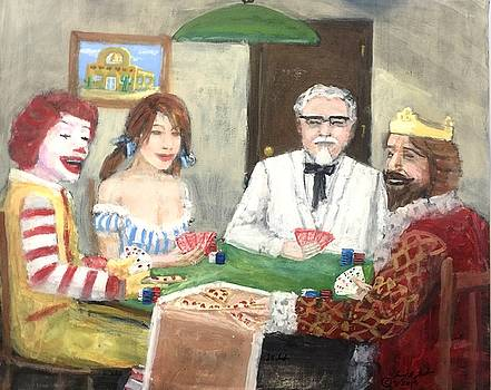 Poker with the ad icons by Larry Lamb