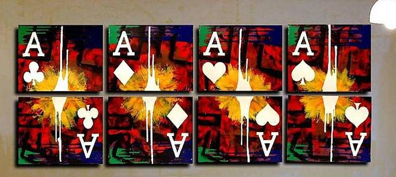 Poker Art ACES drips by Teo Alfonso