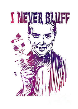 Justyna Jaszke JBJart - Poker - I never bluff - purple
