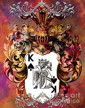Justyna Jaszke JBJart - Poker King Spades colored