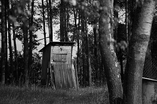 Poland Countryside Outhouse by Fedil
