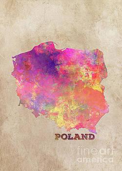 Justyna Jaszke JBJart - Poland map
