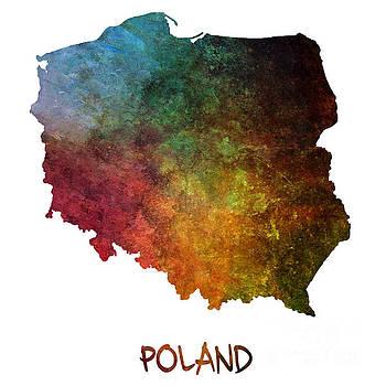 Justyna Jaszke JBJart - Poland map Polska map