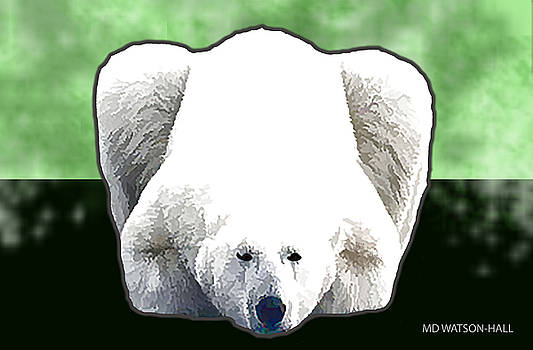 Polar Bear - Green by Marlene Watson
