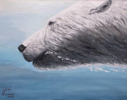 Polar Bear Splash by Judy Kirouac