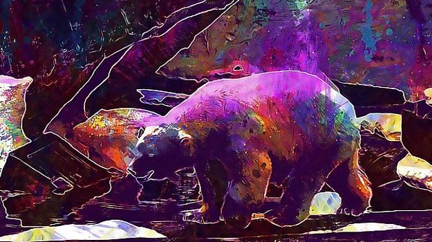 Polar Bear Zoo Wildlife Nature  by PixBreak Art