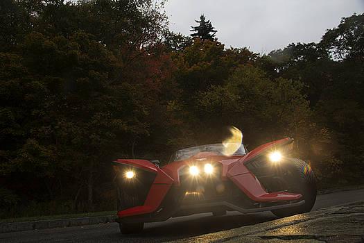 Polaris Slingshot on the Blue Ridge Parkway 2 by Cassandra NightThunder