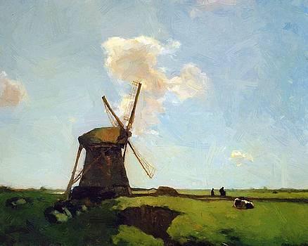 Weissenbruch Johan Hendrik - Polder Landscape