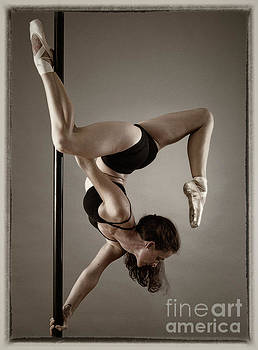 Pole fitness dancer by Michael Edwards