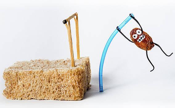 Pole Vaulting Raisin by Gary Gillette