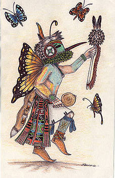 Poli Taka-Butterfly Kachina by J David