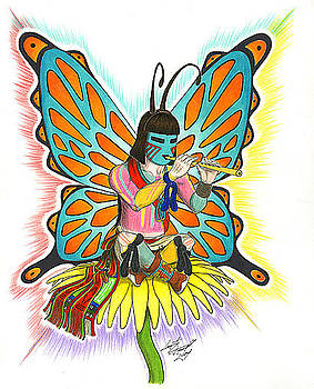 Poli Taka-Butterfly Kachina-Male by Quentin Darrell